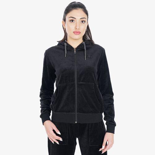 Body Action Velour Hoodie Jacket