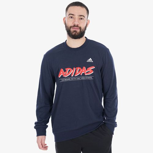 Adidas Must Haves Graphic Crew Sweatshirt